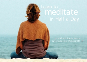 Learn to Meditate in Half a Day Flyer